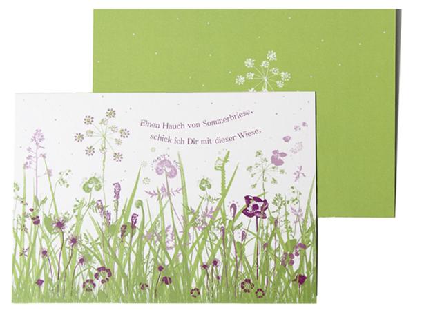 Suse Kaluza Design Postkarte Sommerwiese klein